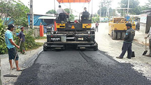โครงการสร้างถนนยางพารา